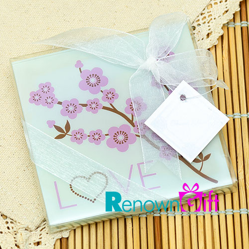 sakura glass coaster