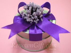 Purple Lavender Tin Box