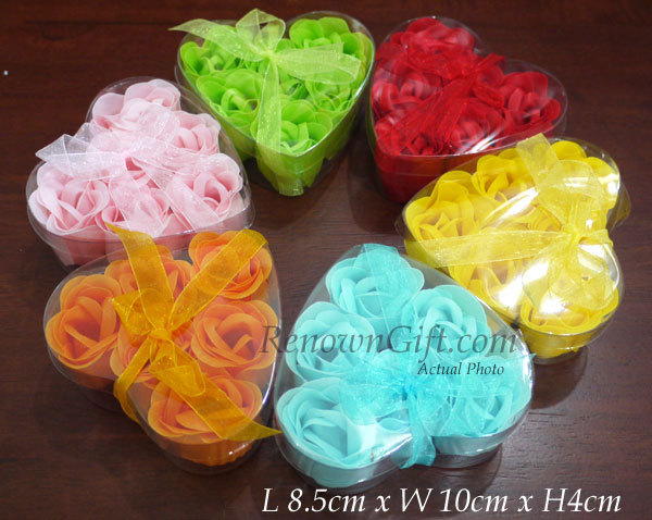 6 scented rose soap