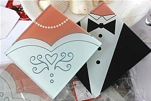 bride groom photo coaster